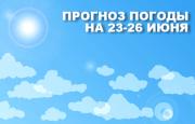 Прогноз погоды на 23-26 июня
