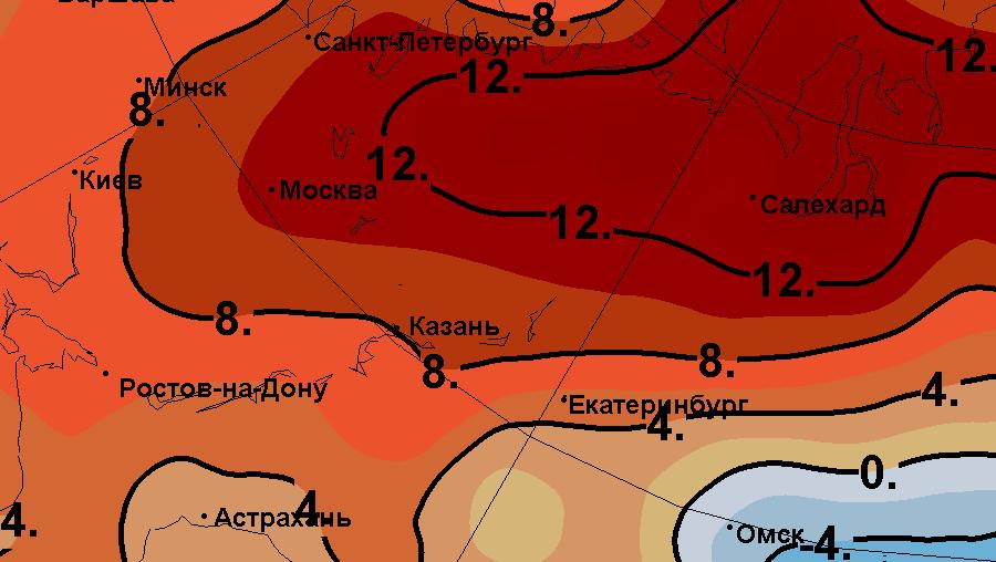 Условия погоды в январе 2018