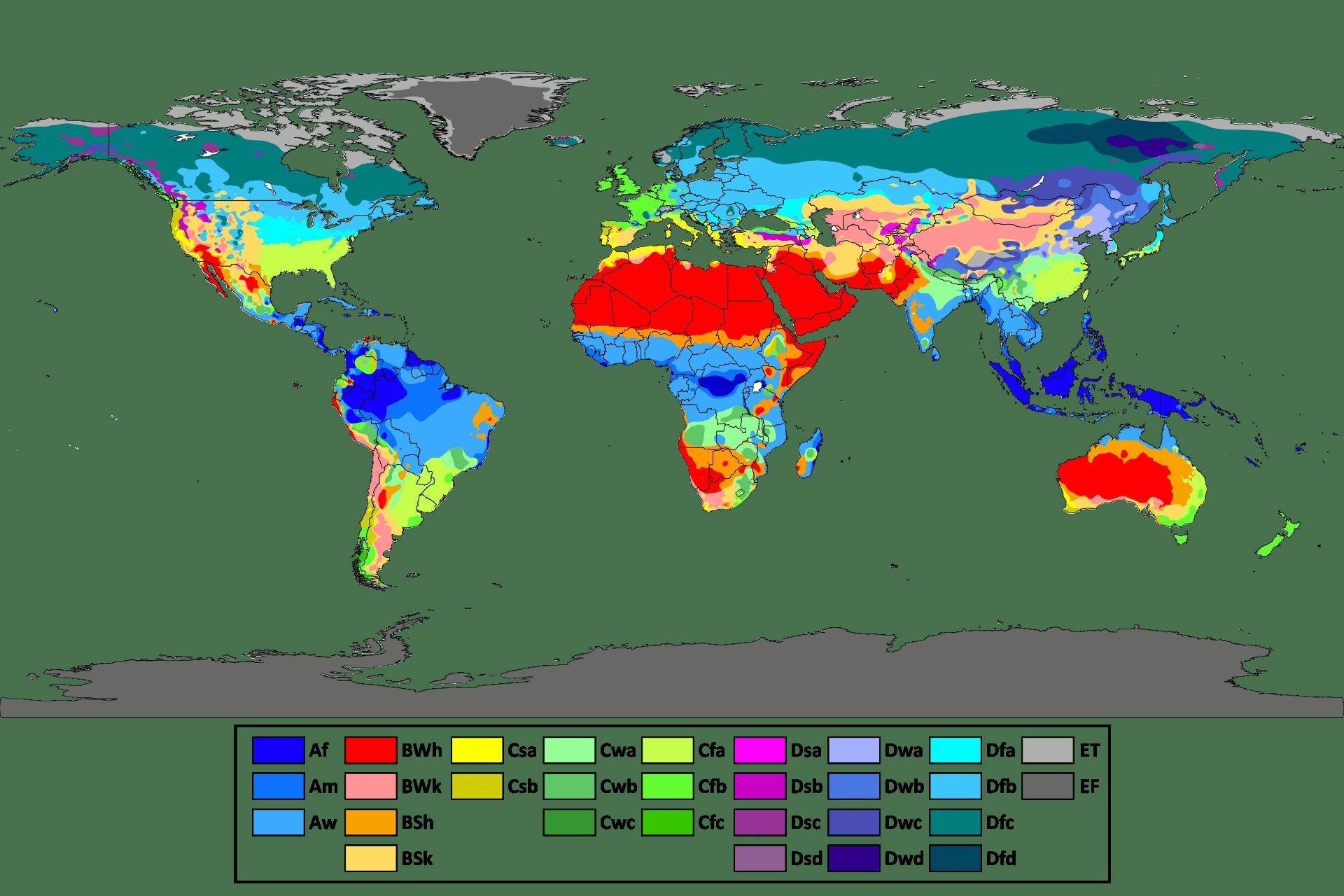 Классификация климатов Кёппена