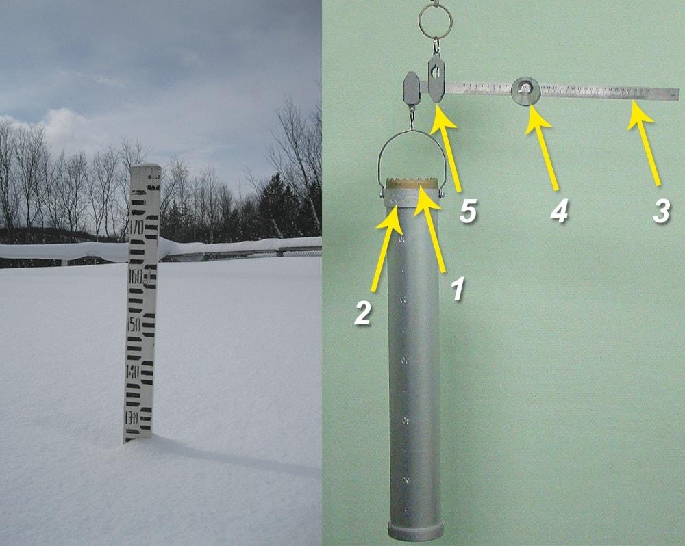 Снегомерная рейка и снегомер весовой
